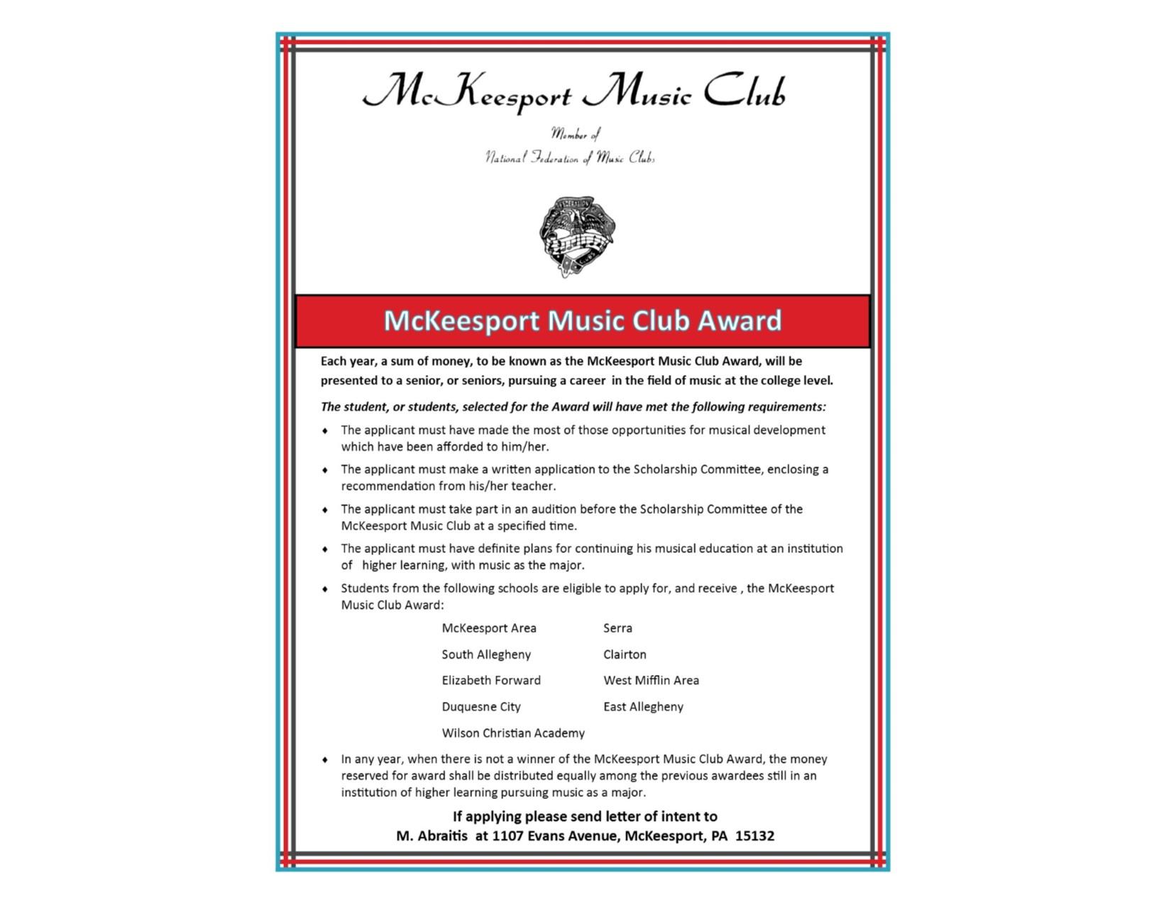 Music Club Award